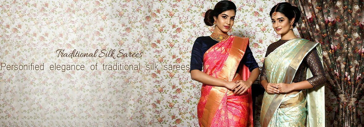 Personified elegance of traditional silk sarees