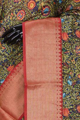 Multicolor Zari Woven Tussar Saree-KL1620