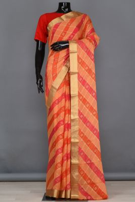 Multicolour Zari Woven Georgette Saree-PB4100