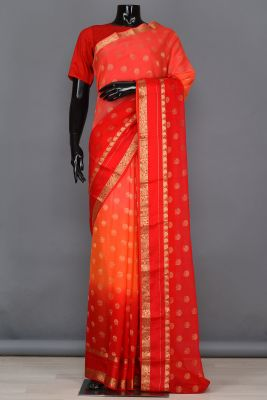 MultiColour Zari Woven Georgette Saree-PB4108