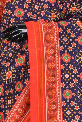 Multicolor Printed Silk Saree-PB4606