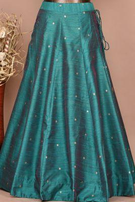 Emerald Green Gota Embroidered Raw Silk Party wear Lehenga-PC3445