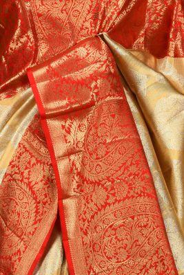 Gold Zari Woven Kanchipuram Silk Saree-PE1537