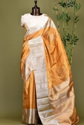 Gold Zari woven Kanchipuram Silk Saree-PE1589