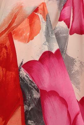 Multicolour Printed Crepe Saree-PE2635