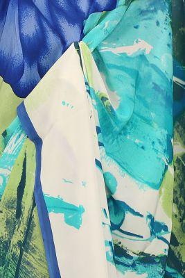 Multicolor Printed Crepe Saree-PE2646