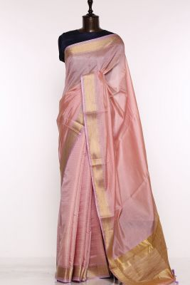 Lavender Pink Woven Silk Saree-PF1657