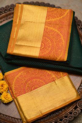 Emerald Green Zari Woven Kanchipuram Silk-PF2046