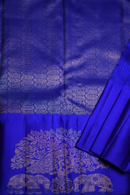 Platinum Grey Woven Kanchipuram Silk Saree-PF2114
