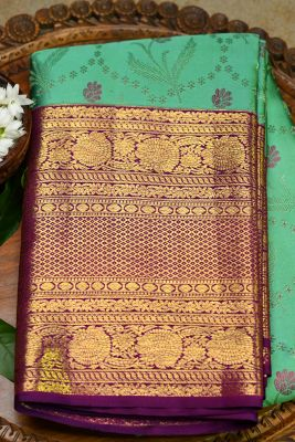Paris Green Woven Kanchipuram Silk-PF2127