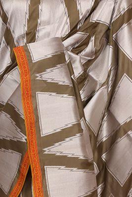 Mehendi Green & Silver Zari Woven Banarasi Silk Saree-PF2597