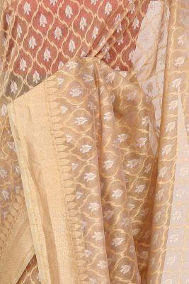 Gold & Silver Zari Woven Banarasi Tissue Saree-PF2601
