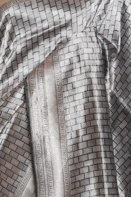 Grey & Silver Zari Woven Banarasi Tissue Saree-PF3423