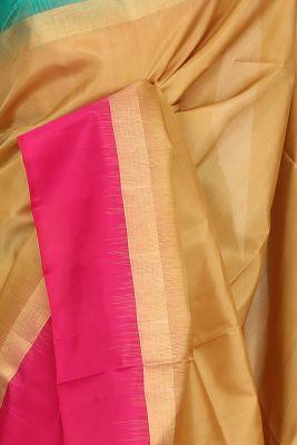 Darwen Gold Zari Woven Silk Saree-PF3691