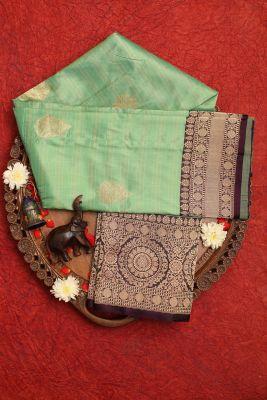Paris Green Zari Woven Banarasi Silk Saree-PG1100