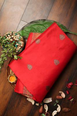 Red Zari woven Banarasi Silk Saree-PG1132