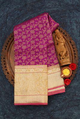 Ultra Pink Zari Woven Kanchipuram Silk Saree-PJ1921