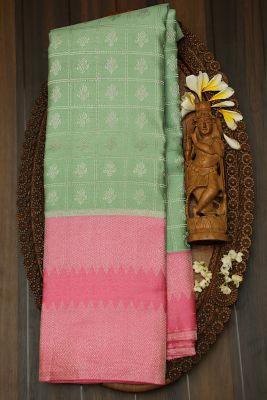 Pistachio Green Zari Woven Kanchipuram Silk Saree-PJ1977