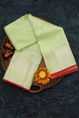 Green Apple Zari Woven Kanchipuram Silk Saree-PJ2009