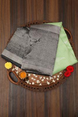 Paris Green Zari Woven Kanchipuram Silk Saree-PJ2014