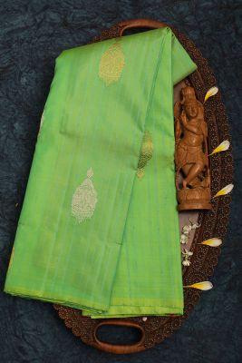 Green Dual Tone Zari Woven Kanchipuram Silk Saree-PJ2021