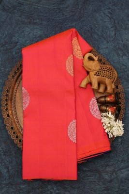 Orange & Pink Dual Tone Zari woven Kanchipuram Silk Saree-PJ2083