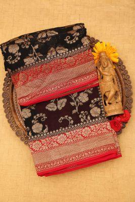 Black Zari Woven Banarasi Georgette Saree-PJ2390