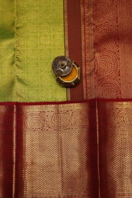 Light Green Zari Woven Kanchipuram Silk Saree-SR25700
